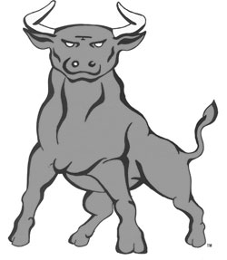 Golden Bull Mascot (Black & White)