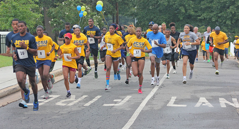 JCSU Charlotte Alumni Chapter held the inaugural Running of the Bulls 5k Run/3k Walk on campus to raise funds for student scholarships.