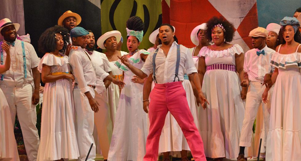 JCSU's Concert Choir takes the stage at Spoleto Festival USA's production of Porgy and Bess. The sold-out show has even been written about in the New York Times.