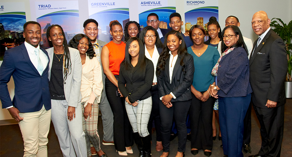 JCSU students received expert advice for their future careers from speakers and panels of business leaders at the CIAA Fifth Third Minority Student Leadership Symposium.